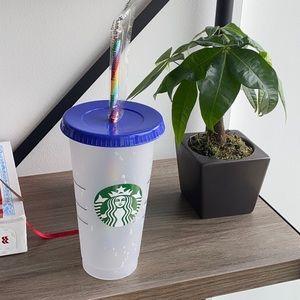 NWT Starbucks pride color changing confetti cup